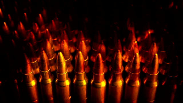 Passing Stack Of Bullets In Flames Abstract video