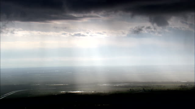 Passing Storm Over Lake Ontario  - Aerial View - New York,  Jefferson County,  United States video