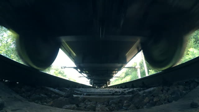 passing train bottom view wide angle - поезд стоковые видео и кадры b-roll