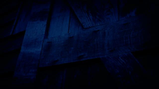 Passing Wooden Barn Door At Night