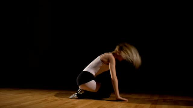 Passionate dancer performs beautiful dance sequence