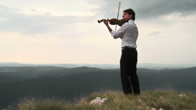 HD CRANE: Passionately Playing The Violin video