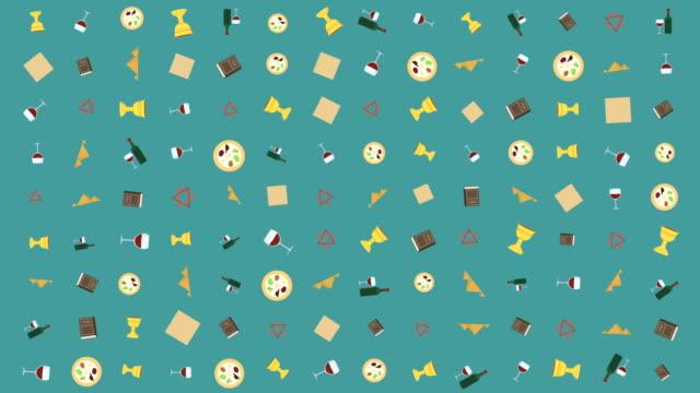유월 절 휴가 평면 디자인 애니메이션 배경 전통적인 기호 - 찰리스 스톡 비디오 및 b-롤 화면