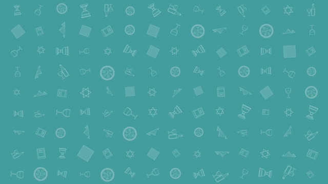 유월 절 휴가 평면 디자인 애니메이션 배경 전통적인 개요 아이콘 기호 - 찰리스 스톡 비디오 및 b-롤 화면