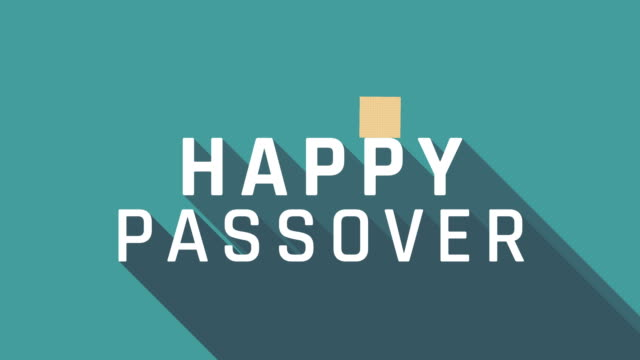Passover holiday greeting animation with matzah icon and english text video