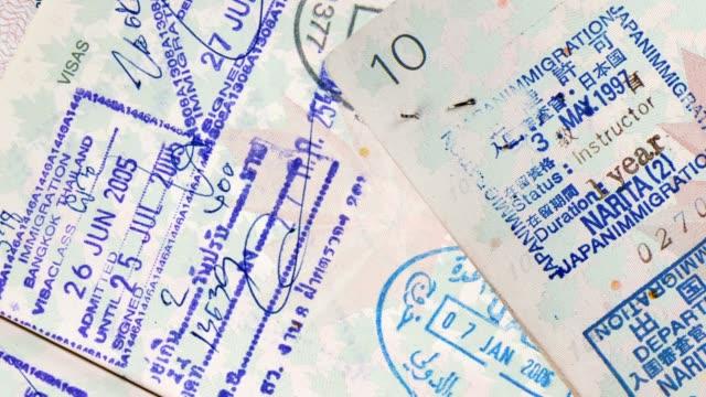 インターナショナルトラベルパスポートスタンプ ビデオ