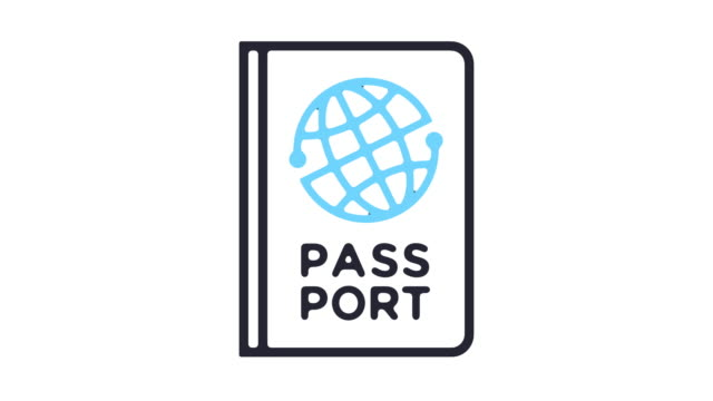 passport line icon animation - passports and visas stock videos and b-roll footage