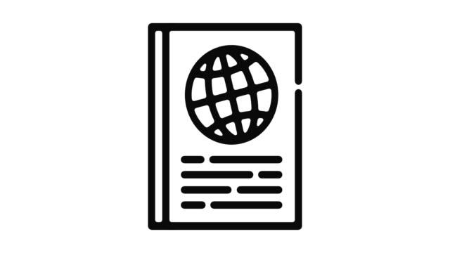 Passport Line Motion Graphic video