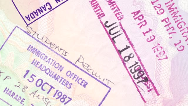 passport panning - passports and visas stock videos and b-roll footage