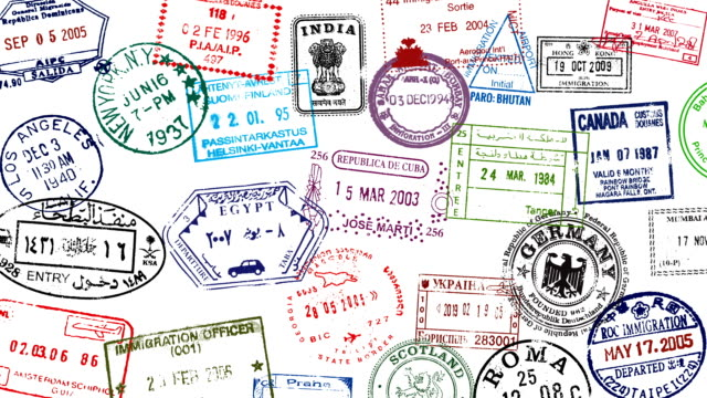 Passport Stamp Broll video