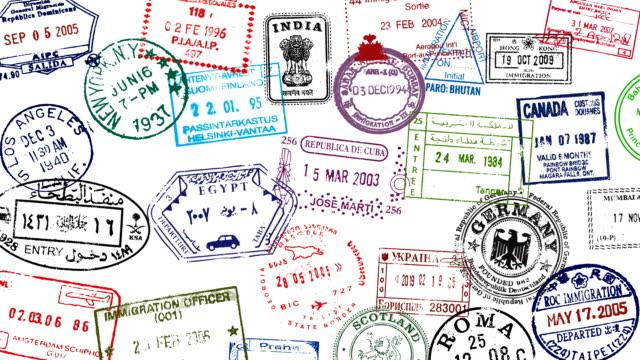 パスポート スタンプ Broll ビデオ