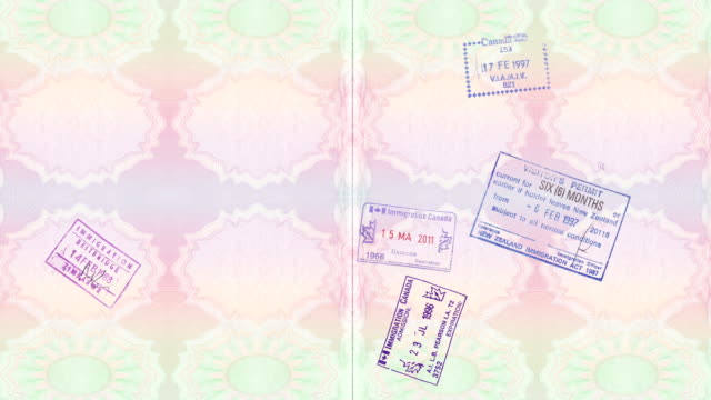 passport stamps - passports and visas stock videos and b-roll footage