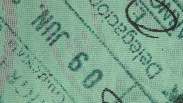 passport, visa, immigration, travel - passports and visas stock videos and b-roll footage