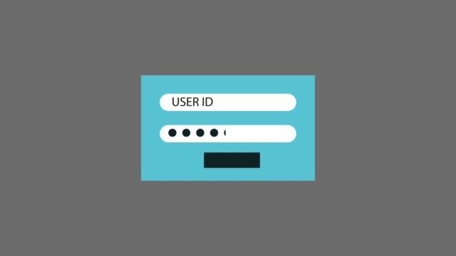 vídeos de stock, filmes e b-roll de animação de hd id de usuário e senha - log on