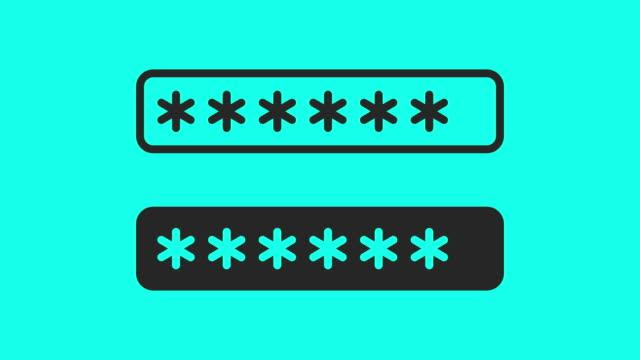パスワード フィールドのアイコン - ベクトル アニメーション - パスワード点の映像素材/bロール