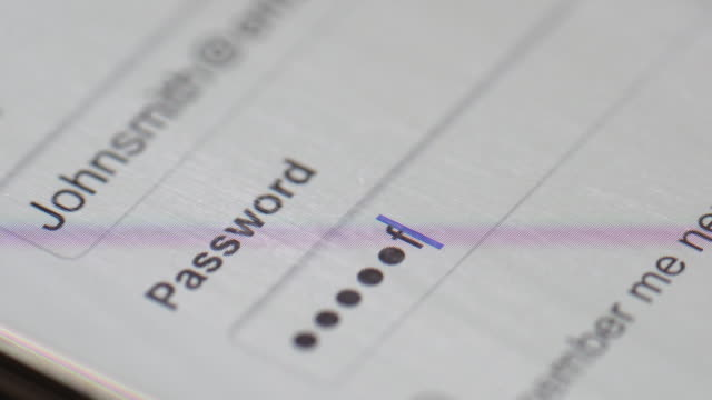 Passwort auf computer-Bildschirm – Video