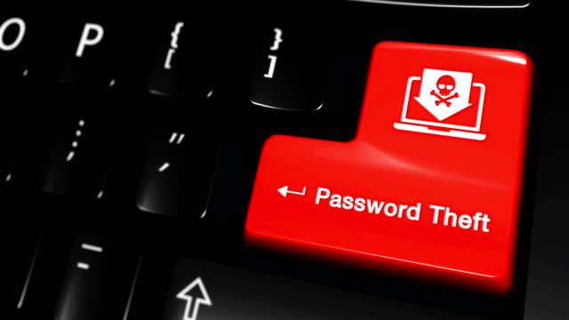 パスワード盗難コンピュータのキーボードボタン上の動きを移動します。 ビデオ