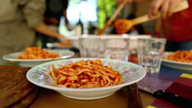 pasta matriciana is ready - italian food stock videos & royalty-free footage