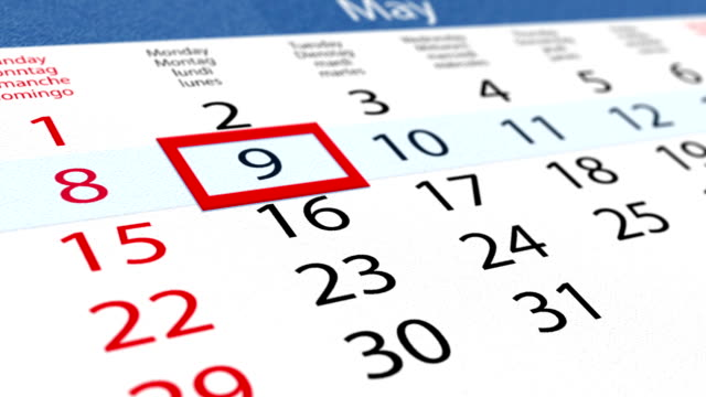 Pasteboard calendar with moving pointer video
