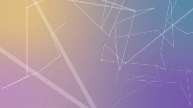 Pastel Color Abstract connections background video