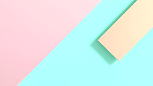 pastel colorful flat lay abstract background 3d rendering motion minimal