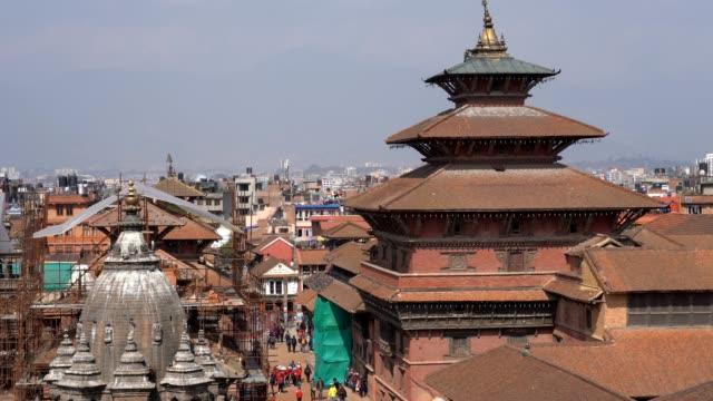 カトマンズ渓谷のパタン・ダルバール広場、ナパル - ネパール人点の映像素材/bロール