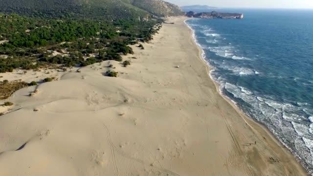 patara beach luftbild - laichen stock-videos und b-roll-filmmaterial