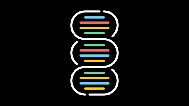 dna paternity test line icon animation with alpha - people icon video stock e b–roll