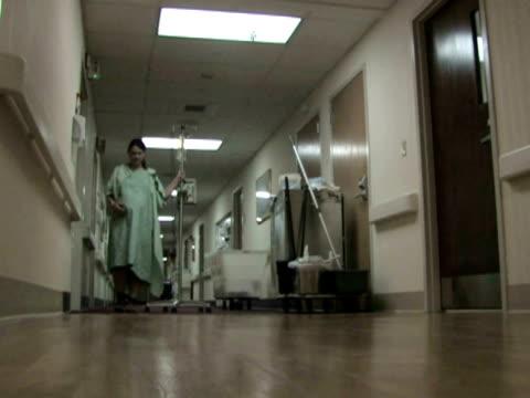 Patient in Hospital Hallway video