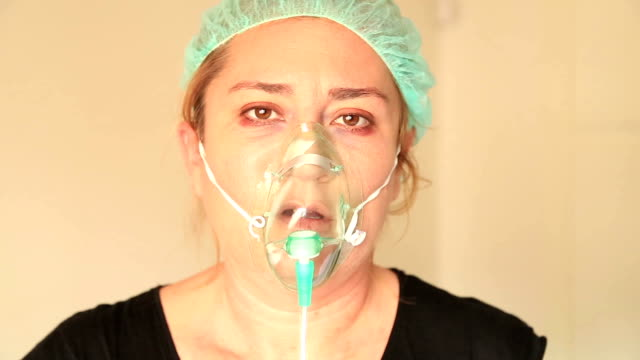 Patient with oxygen mask video