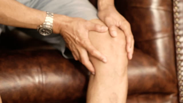Patients knee Rheumatism knee stock videos & royalty-free footage