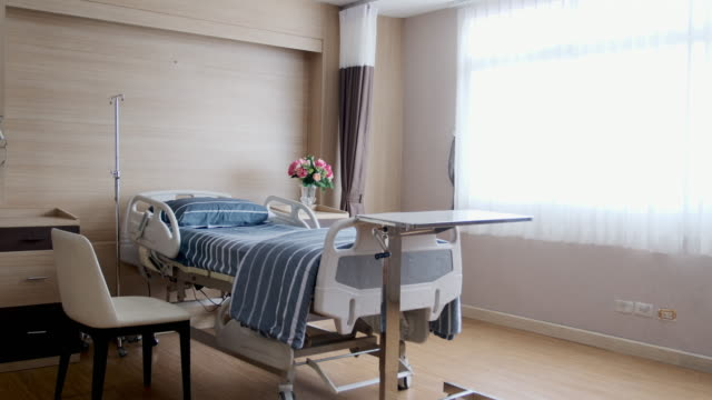 Patient's room is empty, no patient Patient's room is empty, no patient at the hospital. domestic room stock videos & royalty-free footage