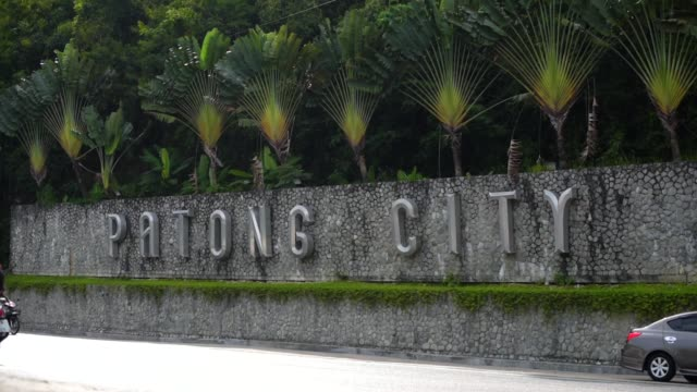Patong City Sign, Thailand video