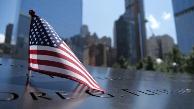 vídeos de stock e filmes b-roll de 9/11 patriot day september 11 memorial day world trade center - setembro