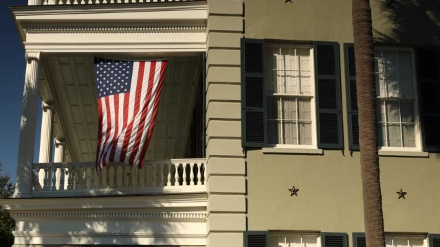 Patriotic home in the USA