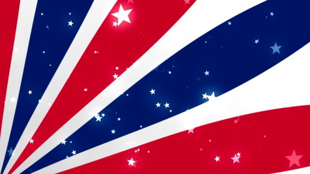 vídeos de stock, filmes e b-roll de nós patrióticas estrelas e listras 2 circulares fundo - patriotismo