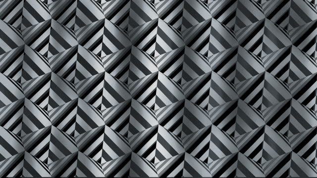 Pattern - Cells. Black and white abstraction. Fluctuation of a glittering canvas with a geometric ornament.