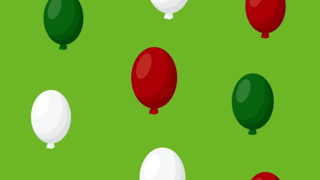 pattern mexican with balloons helium video