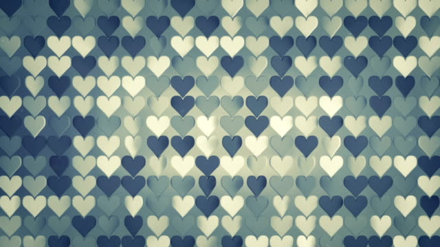 pattern of 3d hearts seamless loop animation - simbolo concettuale video stock e b–roll