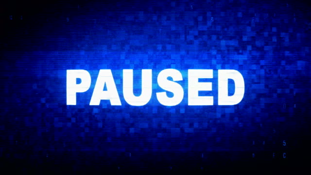 Paused Text Digital Noise Twitch Glitch Distortion Effect Error Animation. Paused Text Digital Noise Twitch and Glitch Effect Tv Screen Loop Animation Background. Login and Password Retro VHS Vintage and Pixel Distortion Glitches Computer Error Message. resting stock videos & royalty-free footage