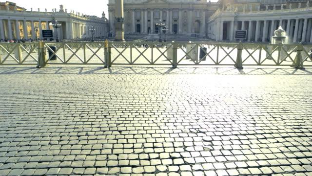 paving stones, saint peter square. - peter the apostle video stock e b–roll