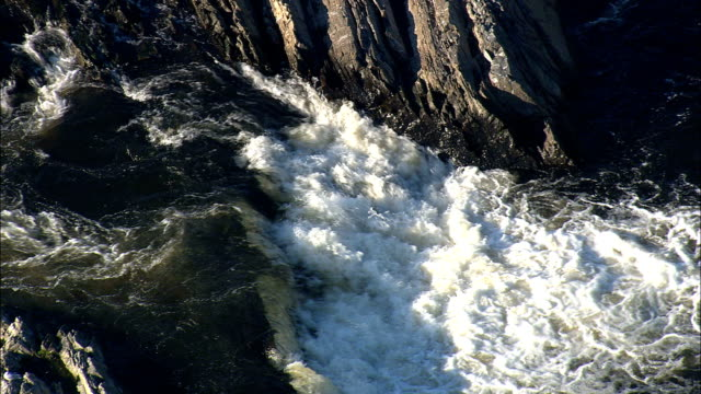 Pawtucket Falls - Aerial View - Massachusetts,  Middlesex County,  United States video