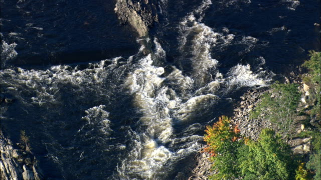 Pawtucket Falls (Lower)  - Aerial View - Massachusetts,  Middlesex County,  United States video