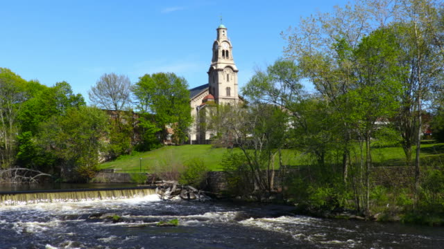 Pawtucket, Rhode Island along the Blackstone River video