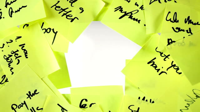 Pay Bills Sticky note. Video. stick plant part stock videos & royalty-free footage