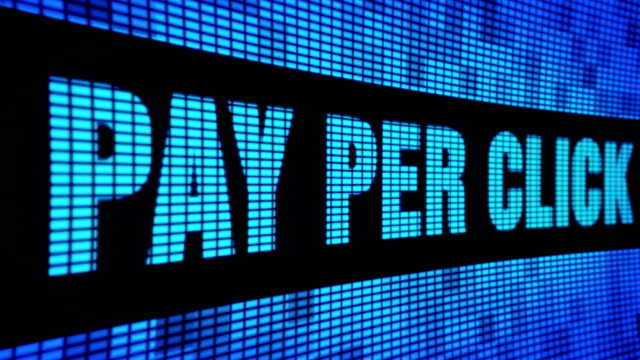 Pay Per Click Side Text Scrolling LED Wall Pannel Display Sign Board