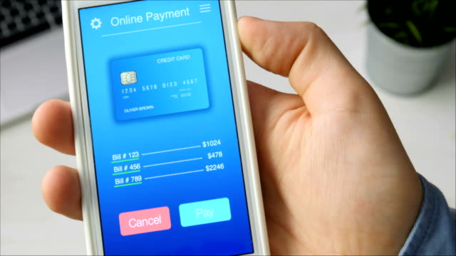 Paying for bills with credit card using smartphone application video