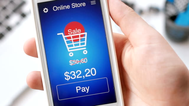Paying for online shopping during sale time using smartphone application video