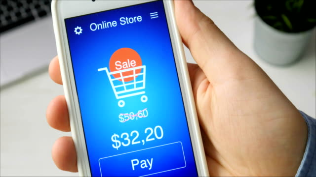 Paying for online shopping during sale time using smartphone application