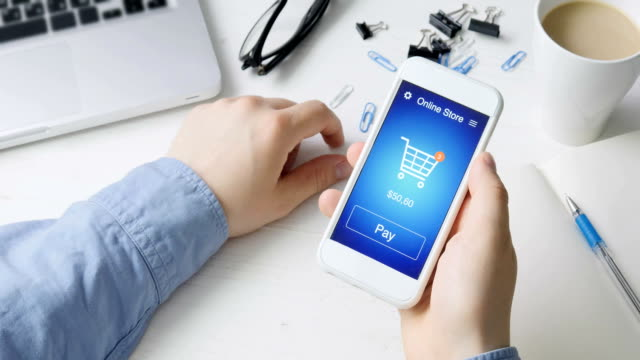 Paying for online shopping using smartphone application